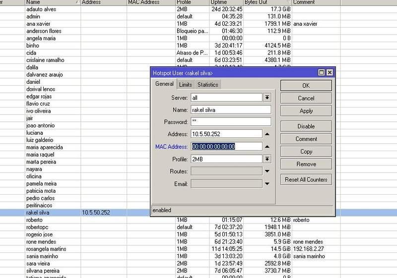 Clique na imagem para uma versão maior  Nome:         Usuario mac e ip.jpg Visualizações:156 Tamanho: 70,2 KB ID:      24016