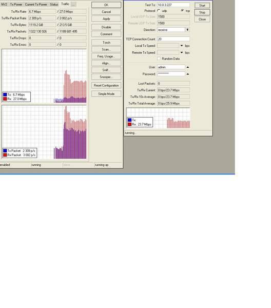Clique na imagem para uma versão maior  Nome:         TRAFEGO RECEBIDO + TESTE DE BANDA.jpg Visualizações:149 Tamanho: 24,8 KB ID:      24732