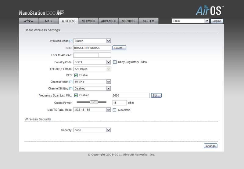 Clique na imagem para uma versão maior  Nome:         NanoStation Loco M5 setup Wireless.jpg Visualizações:194 Tamanho: 27,6 KB ID:      29712