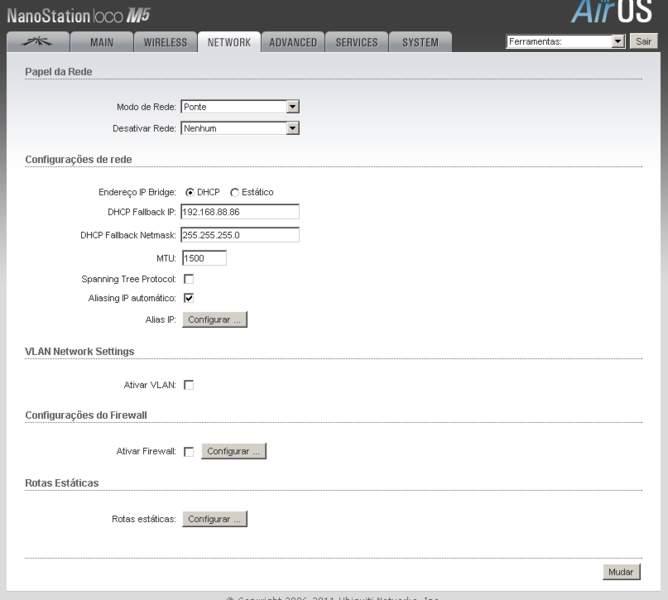 Clique na imagem para uma versão maior  Nome:         ana paula- [NanoStation Loco M5] - Configuração de Rede.jpg Visualizações:195 Tamanho: 24,5 KB ID:      38143