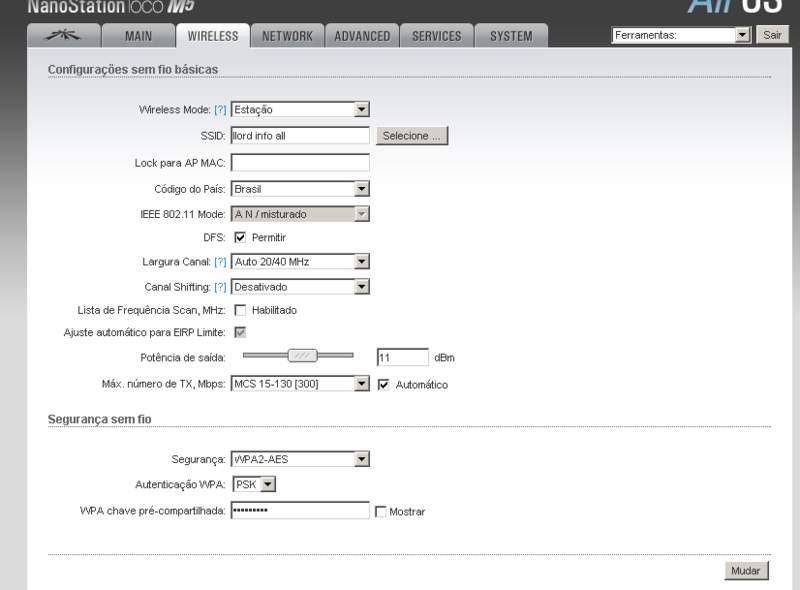 Clique na imagem para uma versão maior  Nome:         ana paula- [NanoStation Loco M5] - Link Setup.jpg Visualizações:144 Tamanho: 33,7 KB ID:      38144