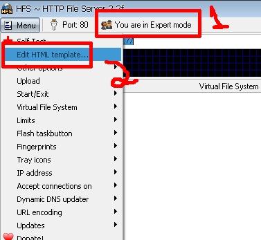 Clique na imagem para uma versão maior  Nome:         HFS Configuração.jpg Visualizações:91 Tamanho: 51,6 KB ID:      42956