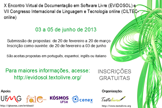 Clique na imagem para uma versão maior  Nome:         Evidosol_cartaz_2013.png Visualizações:87 Tamanho: 158,2 KB ID:      43040