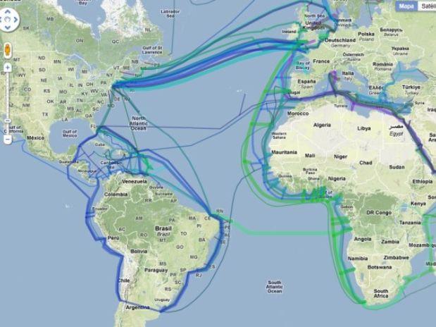 Clique na imagem para uma versão maior  Nome:         mapa-cabos-submarinos-internet.jpg Visualizações:1662 Tamanho: 49,6 KB ID:      50499