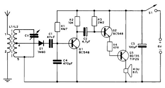 Clique na imagem para uma versão maior  Nome:         Circuito-Básico-de-Rádio-Receptor-AM.png Visualizações:2453 Tamanho: 36,5 KB ID:      54507