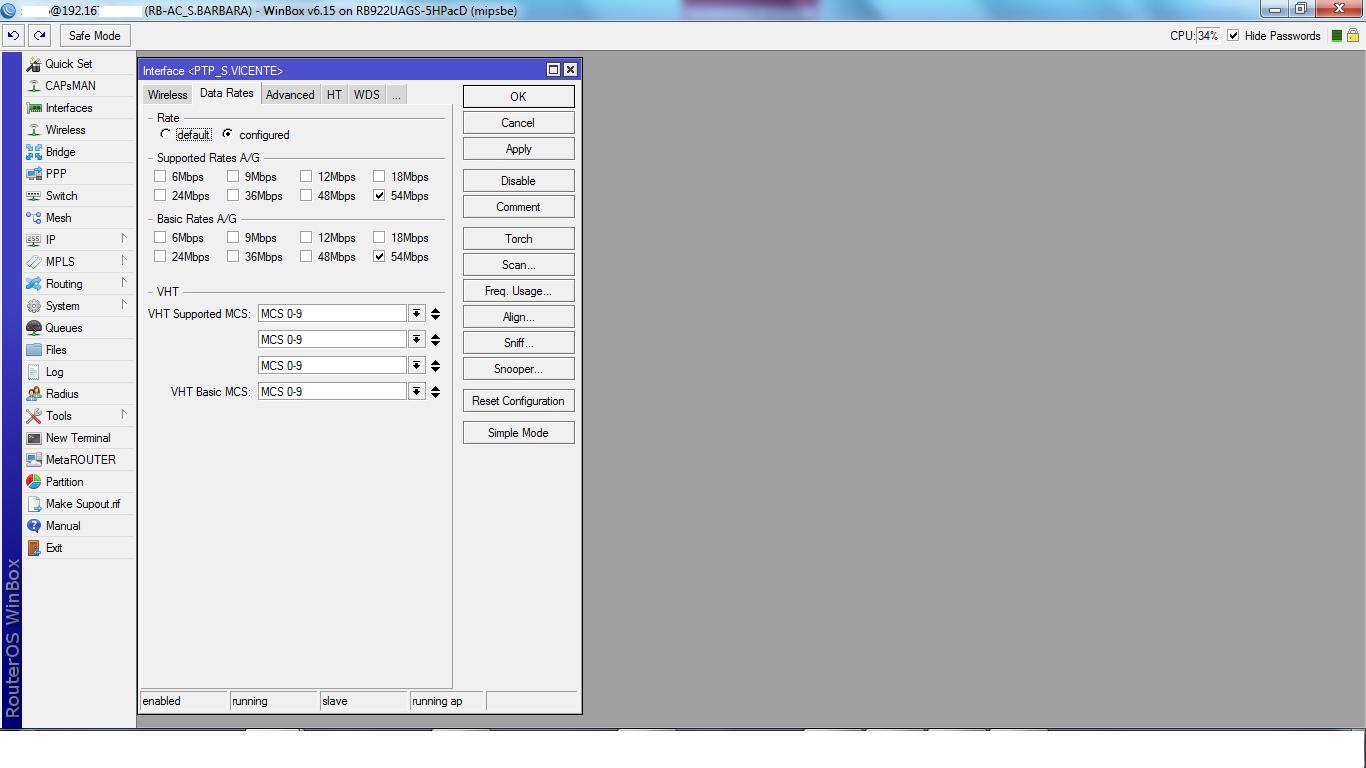 Clique na imagem para uma versão maior  Nome:         teste AC - configuração data rate.png Visualizações:429 Tamanho: 108,3 KB ID:      55992