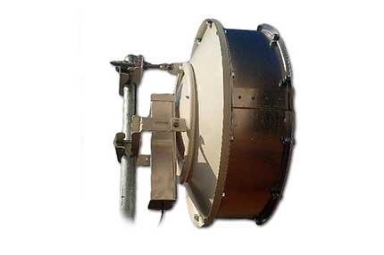 Clique na imagem para uma versão maior  Nome:         RF-Armor-Ubiquiti-Rocket-Dish-Radome-UDR235-side.jpg Visualizações:156 Tamanho: 9,2 KB ID:      56528