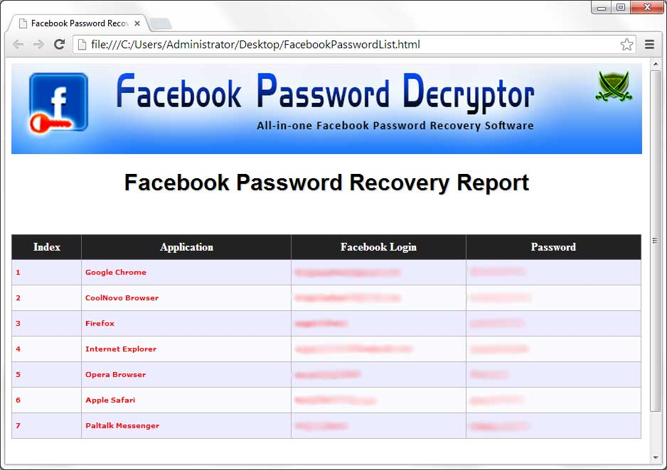 Facebook Password Decryptor 7 1 - Netdeep Blog