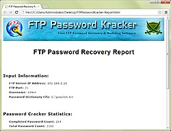 FTP Password Kracker 2.5