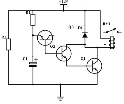 Clique na imagem para uma versão maior  Nome:         circuito-para-rele-com-atraso-para-ligar.png Visualizações:412 Tamanho: 9,8 KB ID:      58185