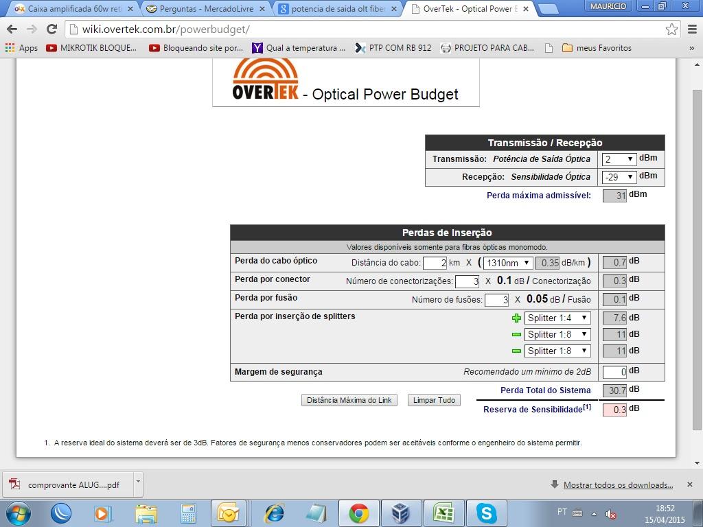Clique na imagem para uma versão maior  Nome:         Orçamento de Potência.jpg Visualizações:986 Tamanho: 195,2 KB ID:      58412