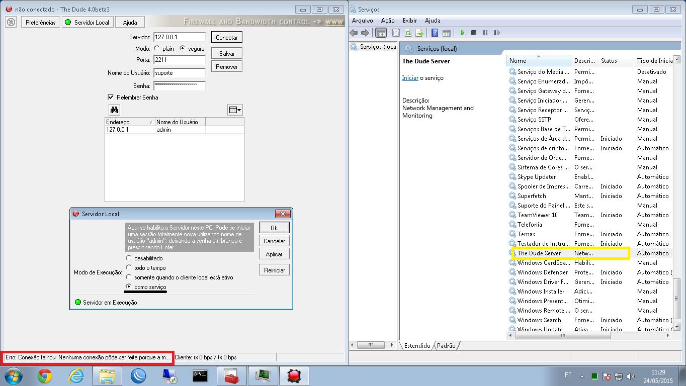 Clique na imagem para uma versão maior  Nome:         erro as service - server off.png Visualizações:114 Tamanho: 122,8 KB ID:      59291