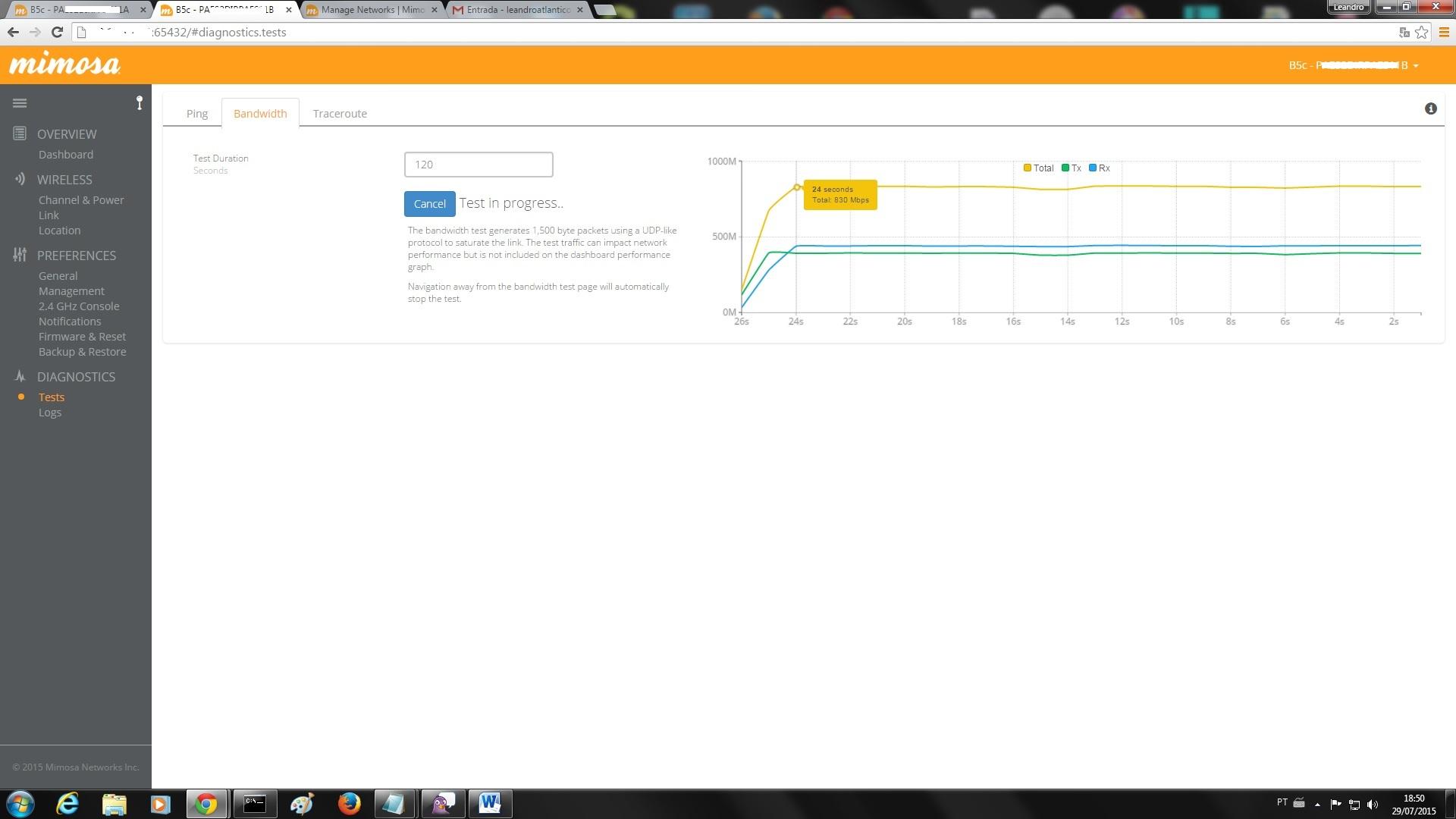 Clique na imagem para uma versão maior  Nome:         mimosa 830mbps.jpg Visualizações:1061 Tamanho: 184,0 KB ID:      61013