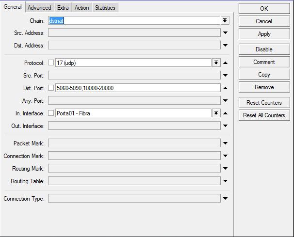 Clique na imagem para uma versão maior  Nome:         dst-nat pabx.PNG Visualizações:38 Tamanho: 16,1 KB ID:      61166