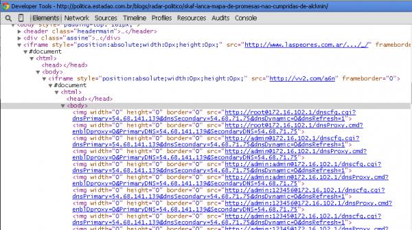 Clique na imagem para uma versão maior  Nome:         iFrame-attack-on-Brazilian-Routers.png Visualizações:134 Tamanho: 115,3 KB ID:      61945