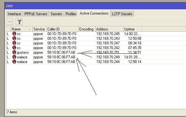 Clique na imagem para uma versão maior  Nome:         ppoe  coctados  com mesmo mac.JPG Visualizações:49 Tamanho: 40,5 KB ID:      62002