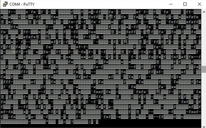 Clique na imagem para uma versão maior  Nome:         COM4 - PuTTY - WON5000.jpg Visualizações:60 Tamanho: 144,9 KB ID:      62415