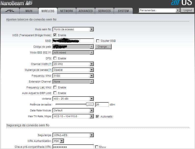 Clique na imagem para uma versão maior  Nome:         NanoBeam Wireless.JPG Visualizações:47 Tamanho: 55,1 KB ID:      62498