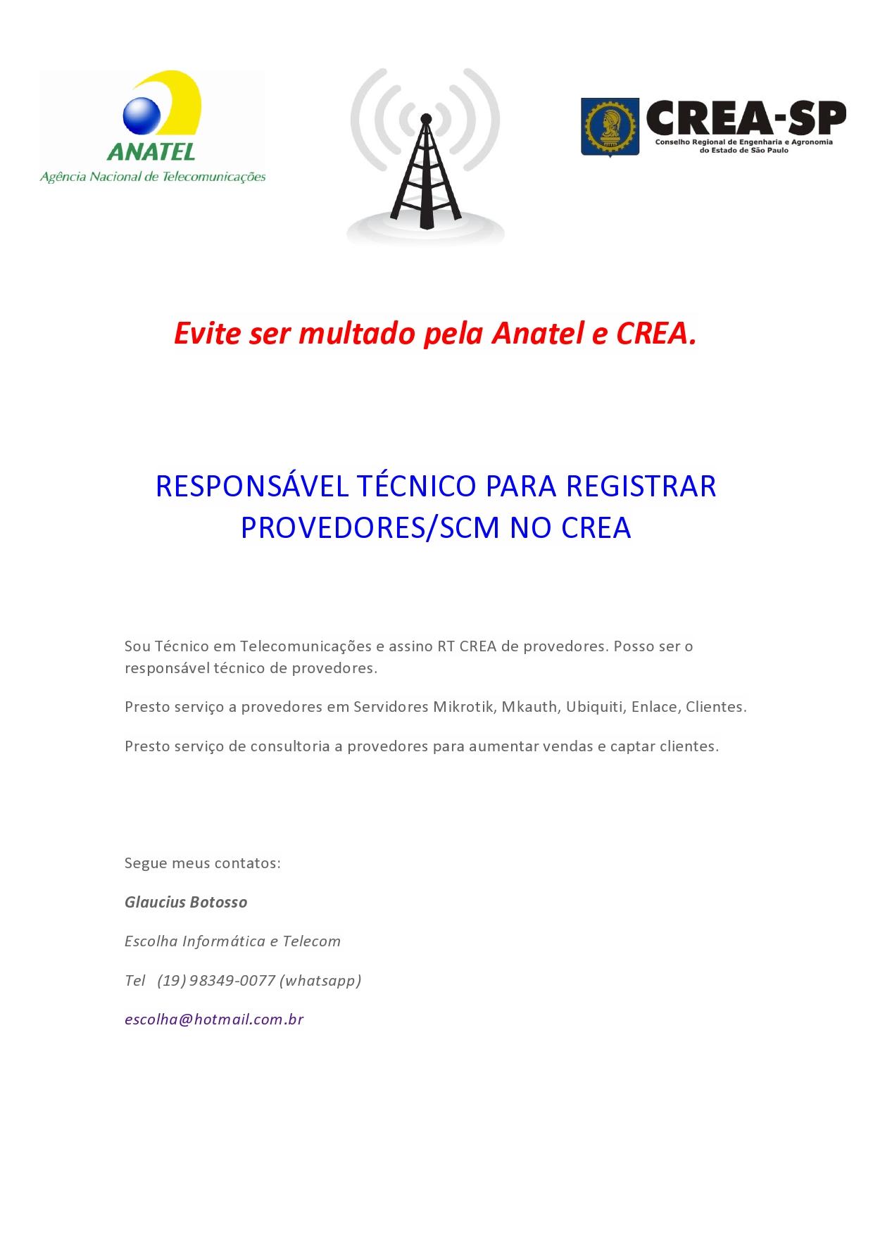 Clique na imagem para uma versão maior  Nome:         Evite ser multado pela Anatel e CREA-page0001.jpg Visualizações:65 Tamanho: 313,3 KB ID:      63209