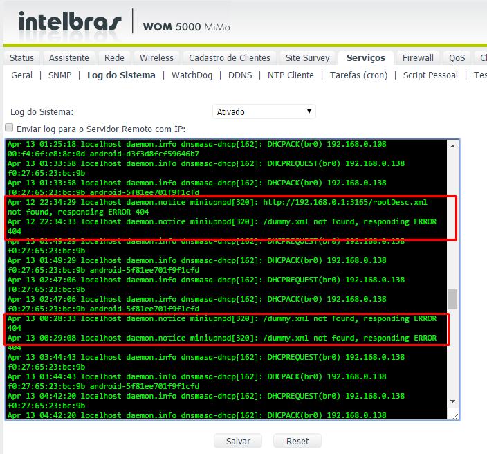 Clique na imagem para uma versão maior  Nome:         erros dhcp wom 5000.png Visualizações:80 Tamanho: 87,9 KB ID:      63497