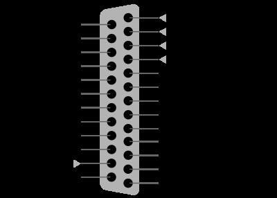 Clique na imagem para uma versão maior  Nome:         400px-25_Pin_D-sub_pinout.svg.png Visualizações:47 Tamanho: 27,4 KB ID:      65559