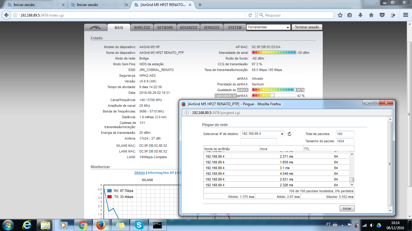 Clique na imagem para uma versão maior  Nome:         ponto a ponto airgrid 27dbi renato cliente.png Visualizações:37 Tamanho: 175,1 KB ID:      65611