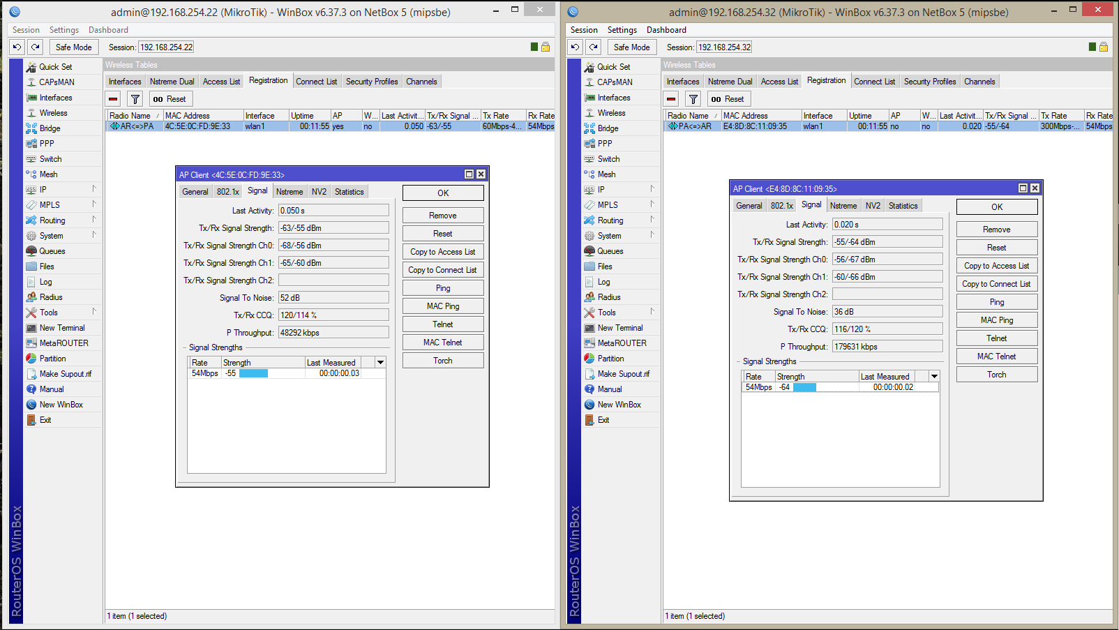 Enlace usando Netbox5 Rb 911g-5hpacd-nb Dual 802 11ac