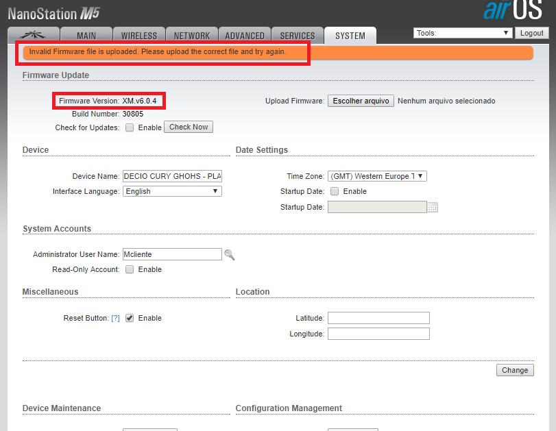 Clique na imagem para uma versão maior  Nome:         firmware ubnt.png Visualizações:67 Tamanho: 42,1 KB ID:      68102