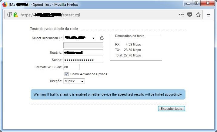 Clique na imagem para uma versão maior  Nome:         Teste Throughput.jpg Visualizações:47 Tamanho: 66,8 KB ID:      68438