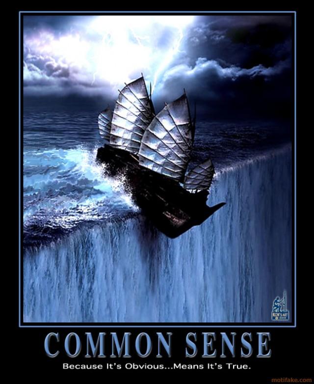 Tenha o m%u00EDnimo de bom-senso na vida. %u00C9 quest%u00E3o de sa%u00FAde mental para voc%u00EA e para todos a sua volta!
